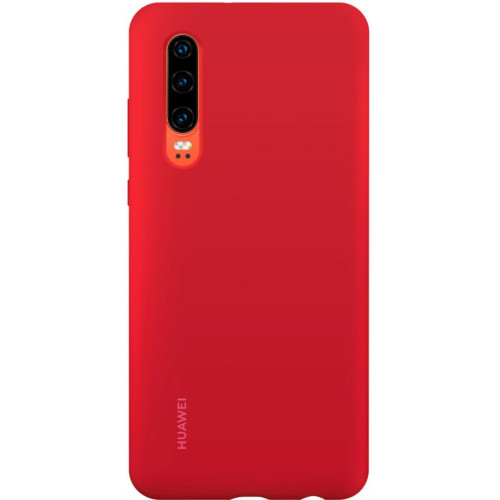 Huawei Coque Silicone P30 - Rouge