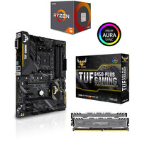 Kit d'�vo AMD Ryzen 5 2600 (3.4 GHz) + Asus TUF B450 PLUS GAMING + 16 Go
