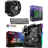 Kit �vo Core i5-9600K + MSI Z390 GAMING EDGE AC + Dark Rock 4 + 16 Go