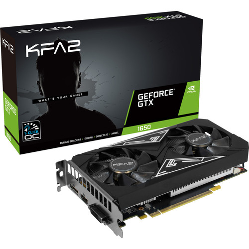 KFA2 GeForce GTX 1650 EX (1-Click OC), 4 Go + bundle Fortnite offert !