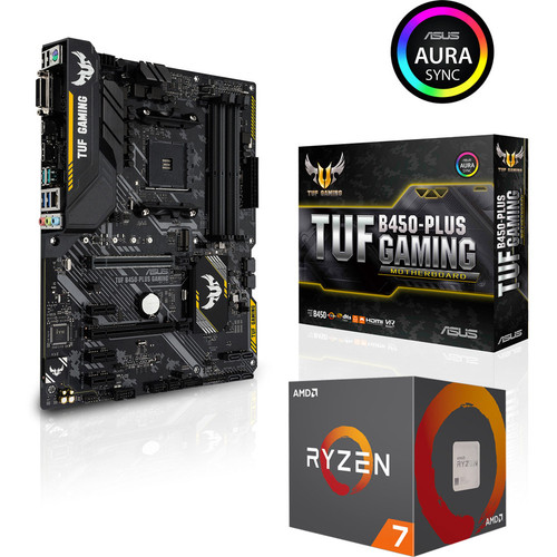 AMD Ryzen 7 2700 (3.2 GHz) + Asus TUF B450 PLUS GAMING