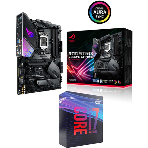 Intel Core i7 9700K (3.6 GHz) + Asus ROG STRIX Z390-E GAMING