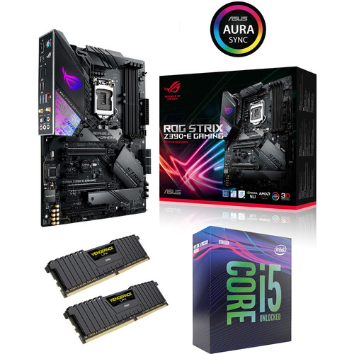 Kit d'évo Core i5-9600K + Asus ROG STRIX Z390-E GAMING + 16 Go