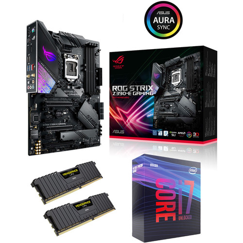 Kit évo Core i7-9700K + Asus ROG STRIX Z390-E GAMING + 16 Go