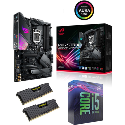Kit évo Core i5-9600K + Asus ROG STRIX Z390-F GAMING + 16 Go