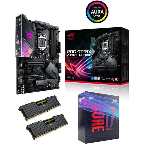 Kit évo Core i7-9700K + Asus ROG STRIX Z390-F GAMING + 16 Go