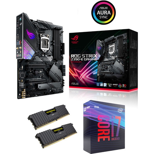 Intel Core i7-9700KF (3.6 GHz) + Asus ROG STRIX Z390-E GAMING + 16 Go
