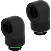Lot de 2 Corsair Hydro X Series XF 90� Rotary - Noir