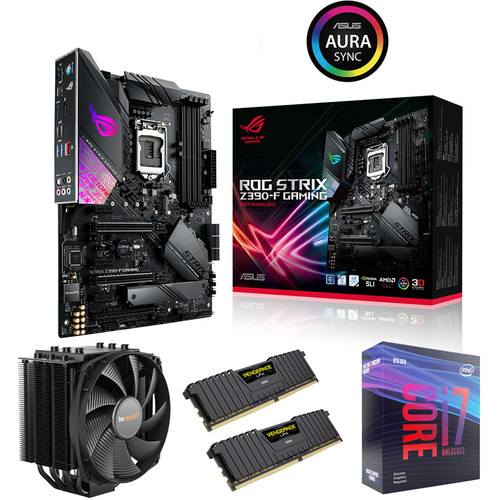 Kit évo Core i7-9700KF + ROG STRIX Z390-F GAMING + Dark Rock 4 + 16 Go