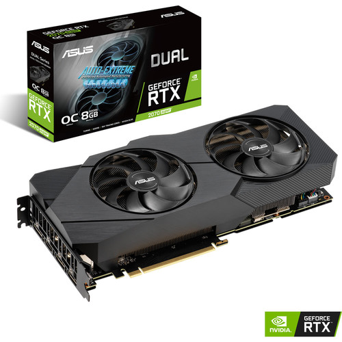 Asus GeForce RTX 2070 SUPER DUAL O8G EVO, 8 Go
