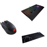 Corsair K70 MK.2 Low Profile RAPIDFIRE RGB + Souris HARPOON RGB + Tapis Configo