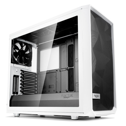 Fractal Design Meshify S2 Tempered Glass Clear, Blanc