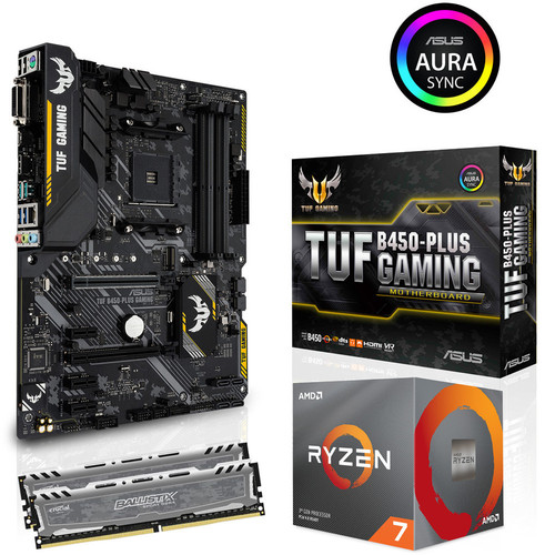 Kit évo Ryzen 7 3700X + Asus TUF B450 PLUS GAMING (MAJ) + 16 Go