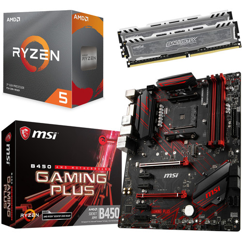 Kit d'évo Ryzen 5 3600 + MSI B450 GAMING PLUS (MAJ) + 16 Go