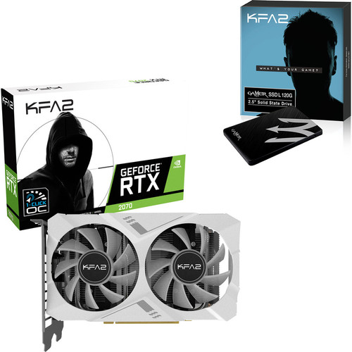 KFA2 GeForce RTX 2070 White Mini, 8 Go + Gamer SSD L, 240 Go, SATA III