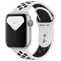 Apple Watch Series 5 Nike GPS + Cellular - 40mm - Alu Argent - Platine Pur/Noir