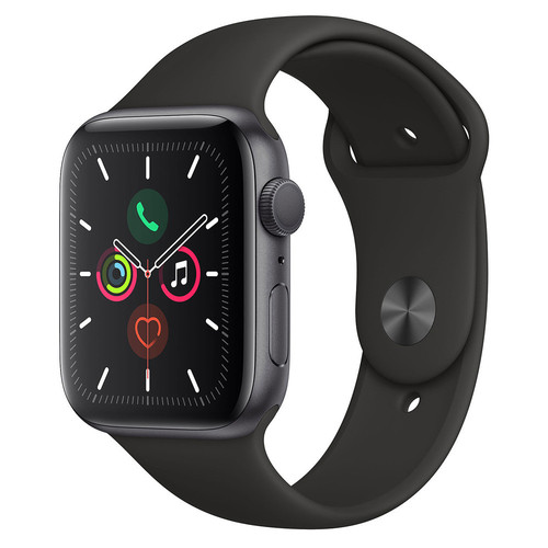 Apple Watch Series 5 - 44mm - Alu Gris Sidéral - Bracelet Sport Noir