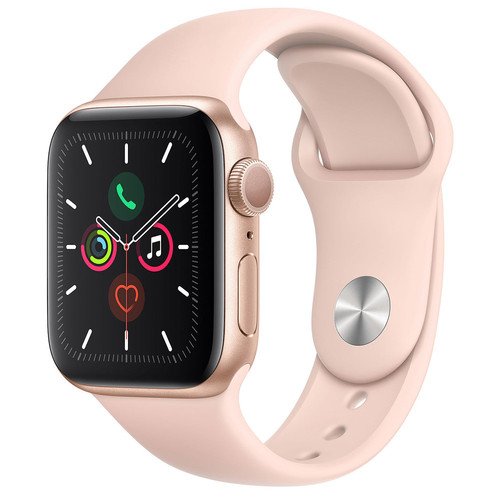 Apple Watch Series 5 Cellular - 40mm - Alu Or - Bracelet Sport Rose des sables