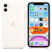 Apple Coque en silicone iPhone 11 - Blanc