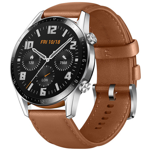 Huawei Watch GT 2 - 46 mm - Cuir Marron