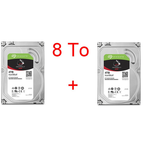Lot de 2 disques durs Seagate IronWolf, 4 To