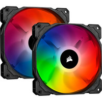 Corsair iCue SP140 RGB Pro, 140 mm (Pack de 2) + Contr�leur Lightning Node Core