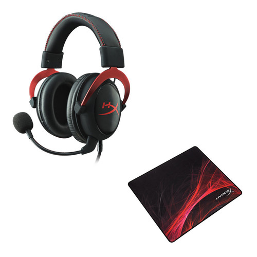 HyperX Cloud II, Rouge + HyperX Fury S Pro L, Speed Edition