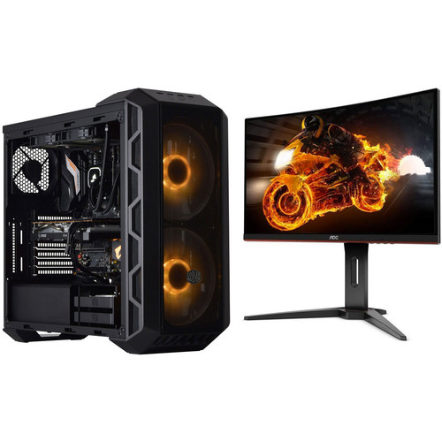 PC Gamer CARBONE (v4) - Avec Windows + AOC C24G1 FreeSync (dalle incurvée) + 3 mois d'abonnement Xbox Game Pass offert !