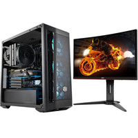 PC Gamer CADMIUM (v7) - Avec Windows + AOC C24G1 (dalle incurv�e)