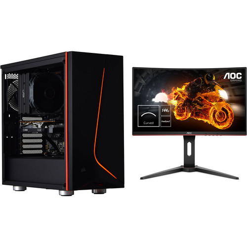 PC Gamer CALIFORNIUM (v3) - Sans Windows + AOC C24G1 FreeSync (dalle incurvée)