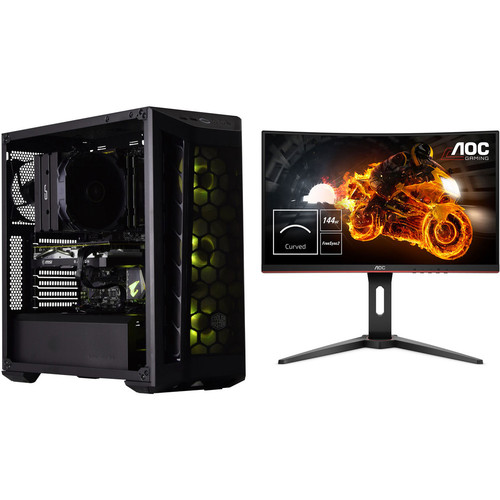 PC Gamer INDIUM - Sans OS + AOC C24G1 FreeSync (dalle incurvée)