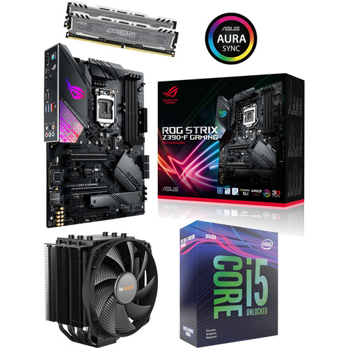 Kit évo Core i5-9600KF + Asus ROG STRIX Z390-F GAMING + Dark Rock 4 + 16 Go