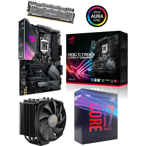 Kit évo Core i7-9700K + Asus ROG STRIX Z390-F GAMING + Dark Rock 4 + 16 Go