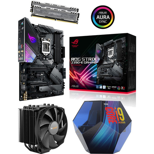 Kit évo Core i9-9900K + Asus ROG STRIX Z390-E GAMING + Dark Rock 4 + 16 Go