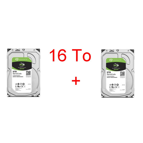 Lot de 2 disques durs Seagate BarraCuda, 8 To