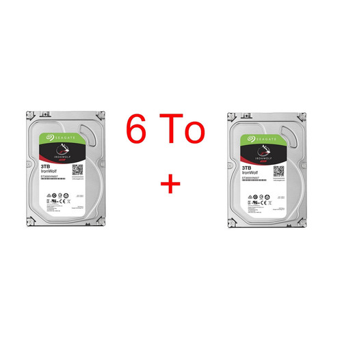 Lot de 2 disques durs Seagate IronWolf, 3 To