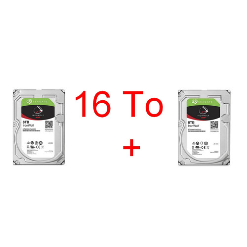Lot de 2 disques durs Seagate IronWolf, 8 To