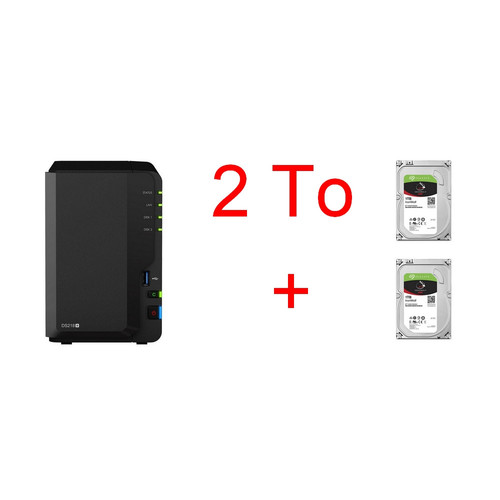Synology DS218+ + 2 x Seagate IronWolf, 1 To