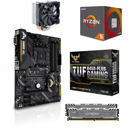 Kit évo Ryzen 5 2600 (3.4 GHz) + Asus TUF B450-PLUS GAMING + Pure Rock + 16 Go