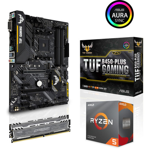 Kit évo Ryzen 5 3600 + Asus TUF B450 PLUS GAMING (MAJ) + 16 Go