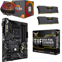 Kit �vo Ryzen 7 2700X (3.7 GHz) + Asus TUF B450-PLUS GAMING + 16 Go