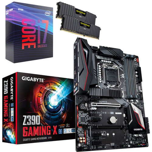 Kit évo Core i7-9700K + Gigabyte Z390 GAMING X + 16 Go