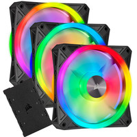 Corsair QL120 RGB - Noir - 120 mm (Pack de 3) + Lightning Node Core