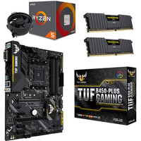Kit �vo Ryzen 5 2600 (3.4 GHz) + Asus TUF B450-PLUS GAMING + 16 Go