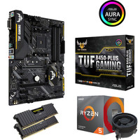 Kit �vo Ryzen 5 3600X (3.8 GHz) + Asus TUF B450 PLUS GAMING + 16 Go