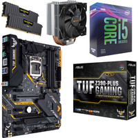 Kit �vo Core i5-9600KF + Asus TUF Z390-PLUS GAMING + Pure Rock 2 + 16 Go