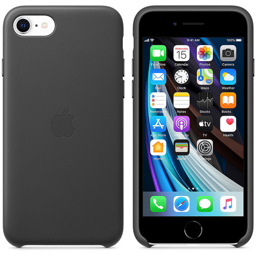Apple iPhone SE - Coque en cuir - Noir