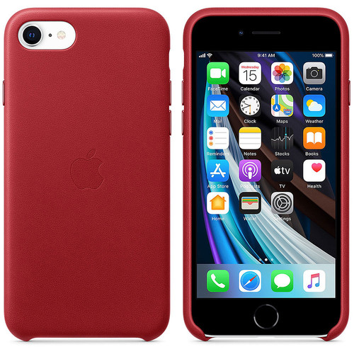 Apple iPhone SE - Coque en cuir - PRODUCT(RED)