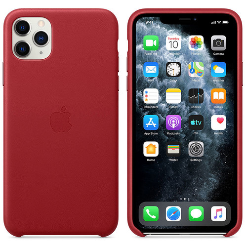 Apple Coque en cuir - iPhone 11 Pro Max - PRODUCT(RED)