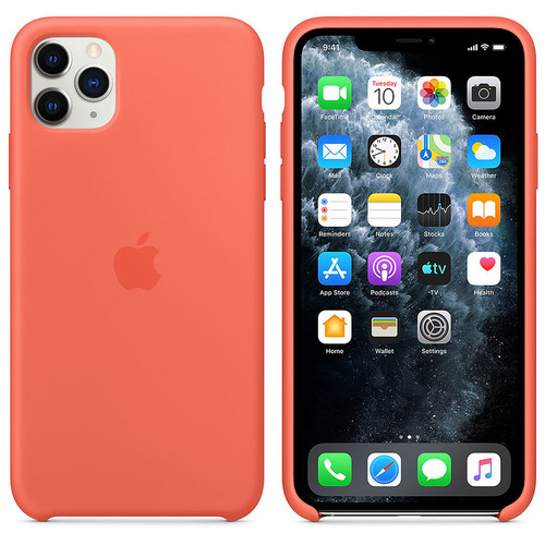Apple iPhone 11 Pro Max - Coque en silicone - Clémentine